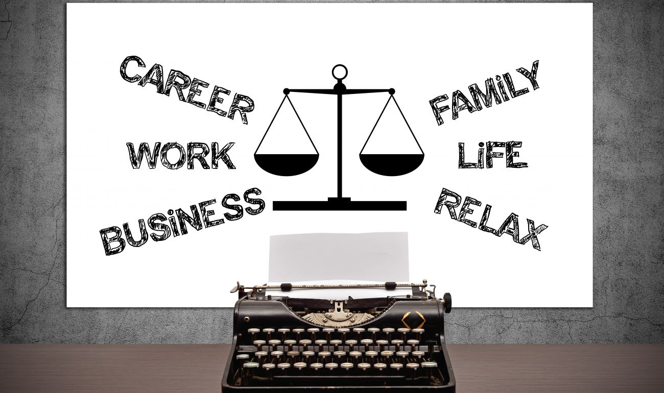 career family work business life relax old fashioned typewriter