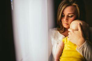 Mum and baby thinking