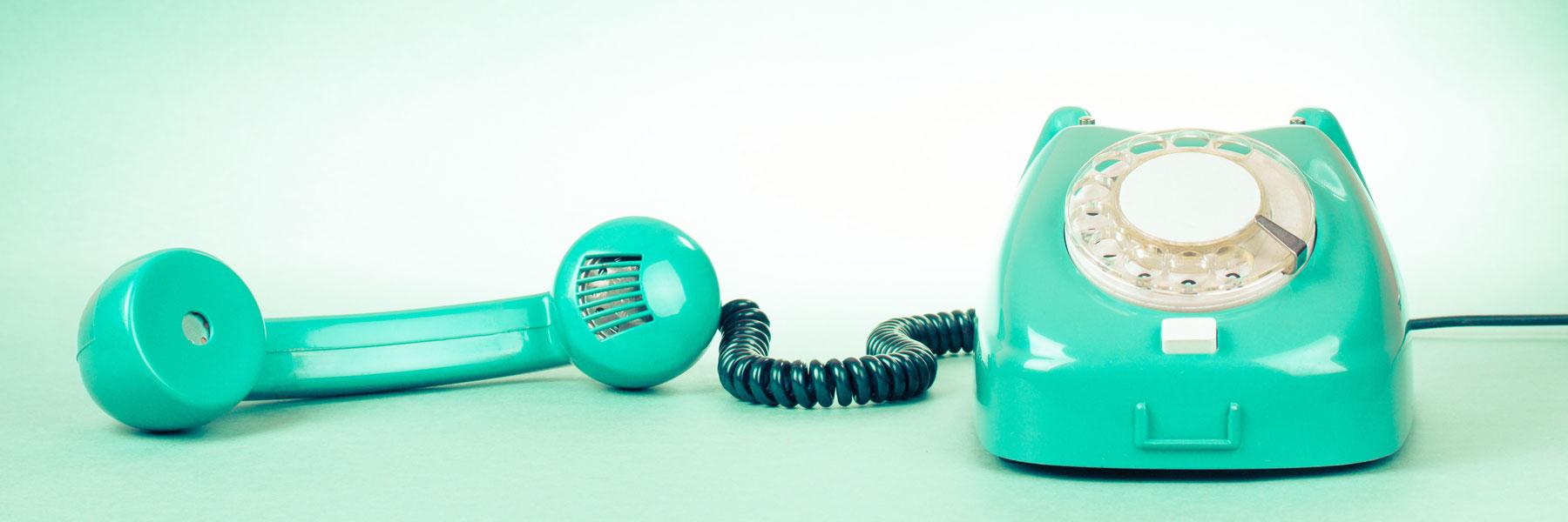 turquoise phone.